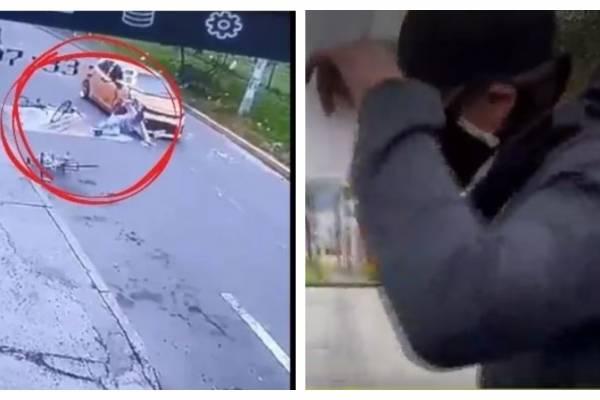 Taxista que arrolló a 4 ciclistas en Bogotá sigue libre a pesar de ir a entregarse