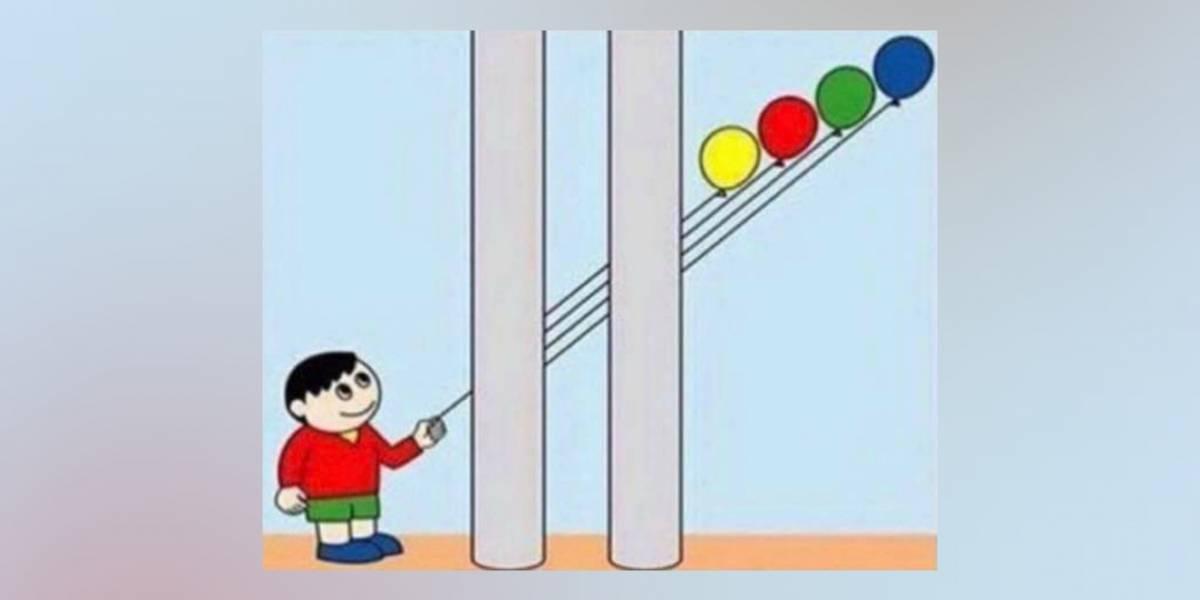 'Qual balão ele está segurando?': o desafio visual que viralizou nas redes