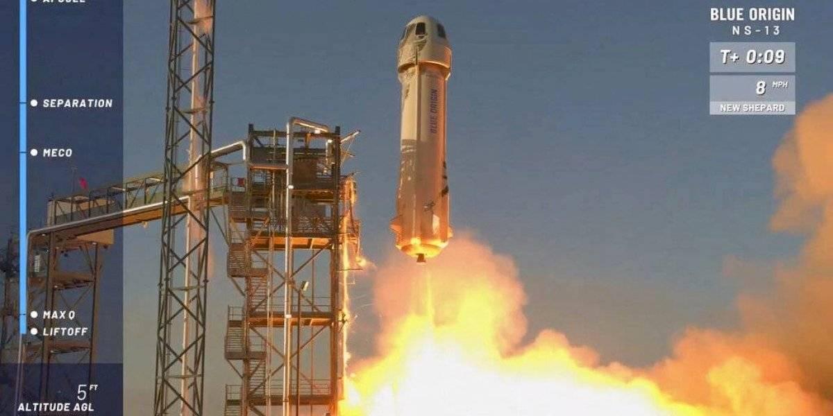 NASA ensaya tecnología de alunizaje con cohete de Jeff Bezos