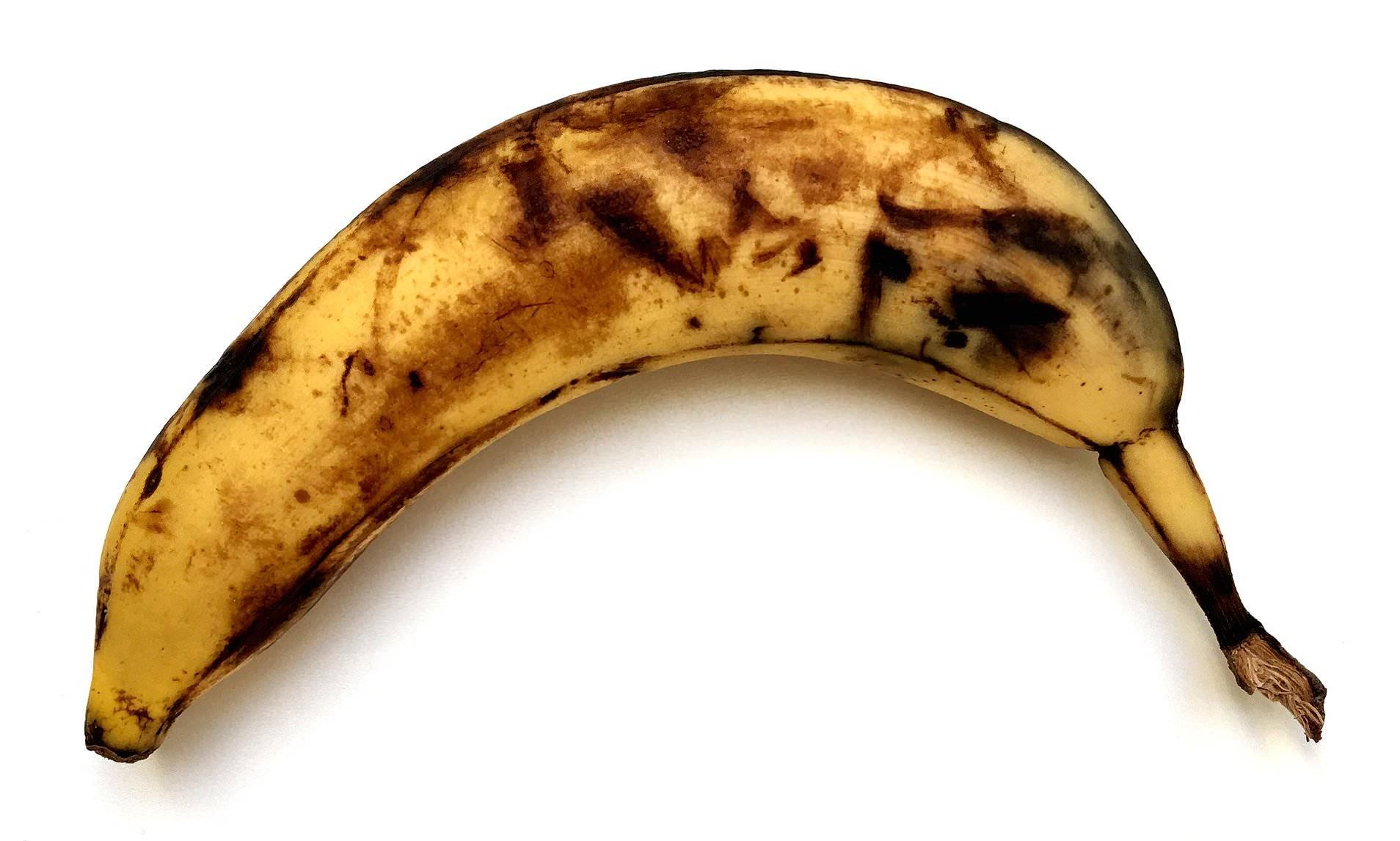 Mascarilla de plátano maduro