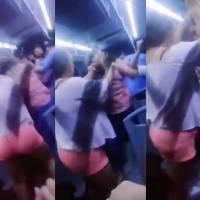 Infidelidad desata pelea entre mujeres en camión de Nuevo León