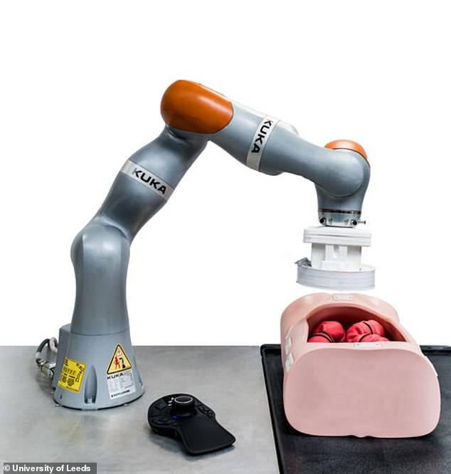 Robot para realizar una colonoscopia