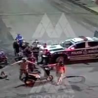 Difunden video de un choque entre dos motociclistas en Ecatepec