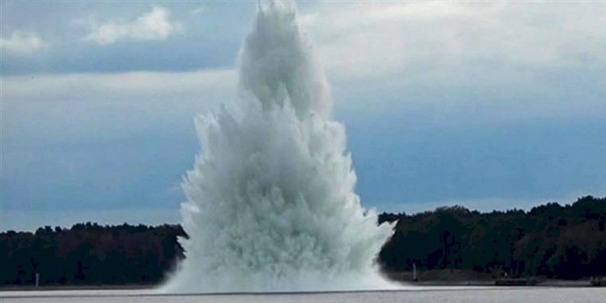 Video: explota bomba de la Segunda Guerra Mundial mientras buzos intentaban desactivarla