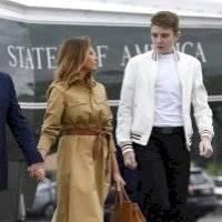Melania Trump confirmó que su hijo Barron también contrajo Covid-19