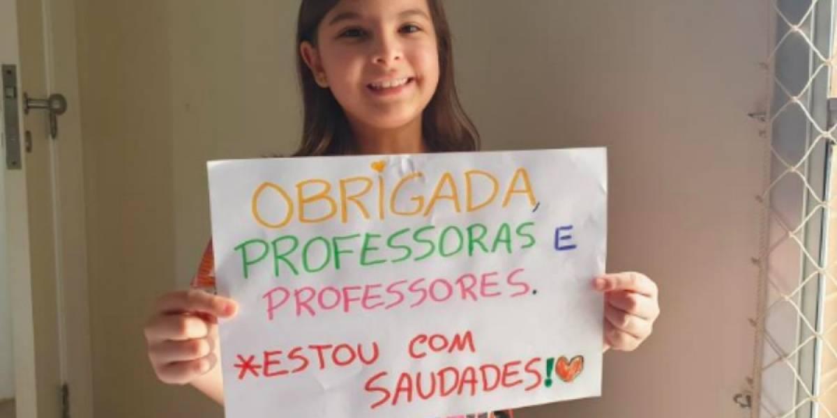 Unicef faz 'obrigadaço' em homenagem aos professores
