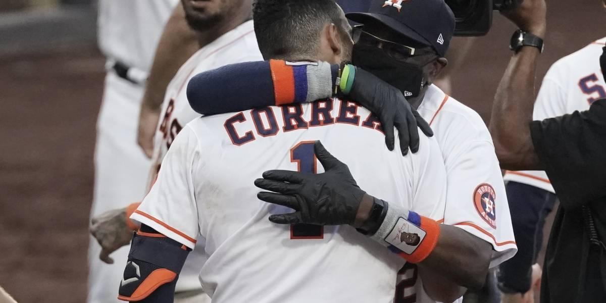Jonrón de Correa da nueva vida a Astros ante Rays