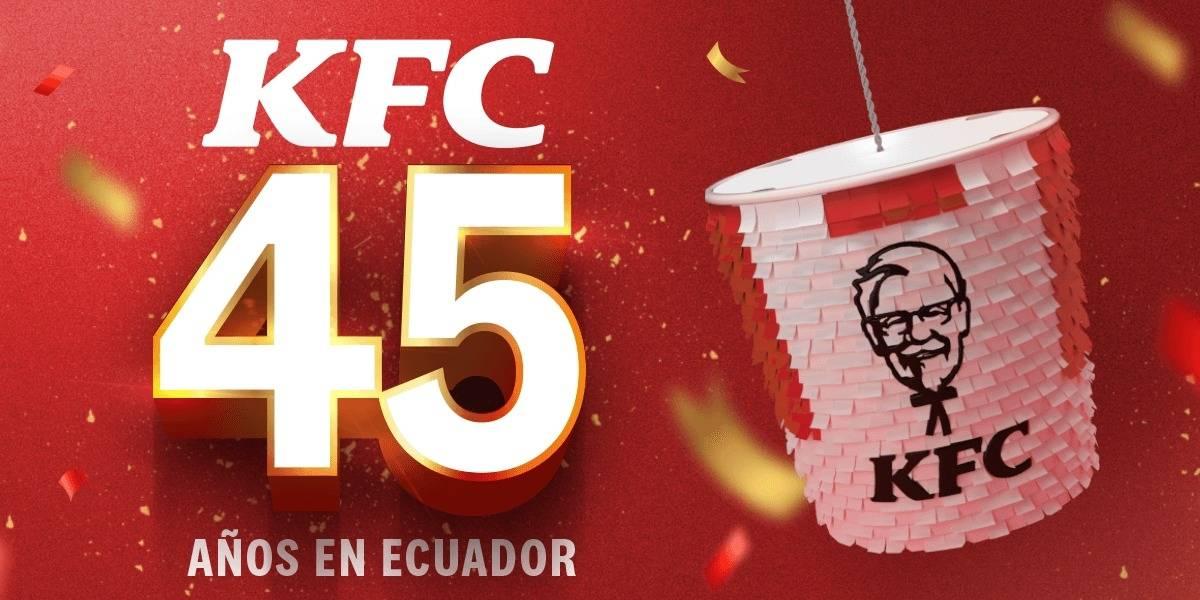 """KFC celebra 45 años de su llegada a Ecuador con """"su receta secreta"""""""