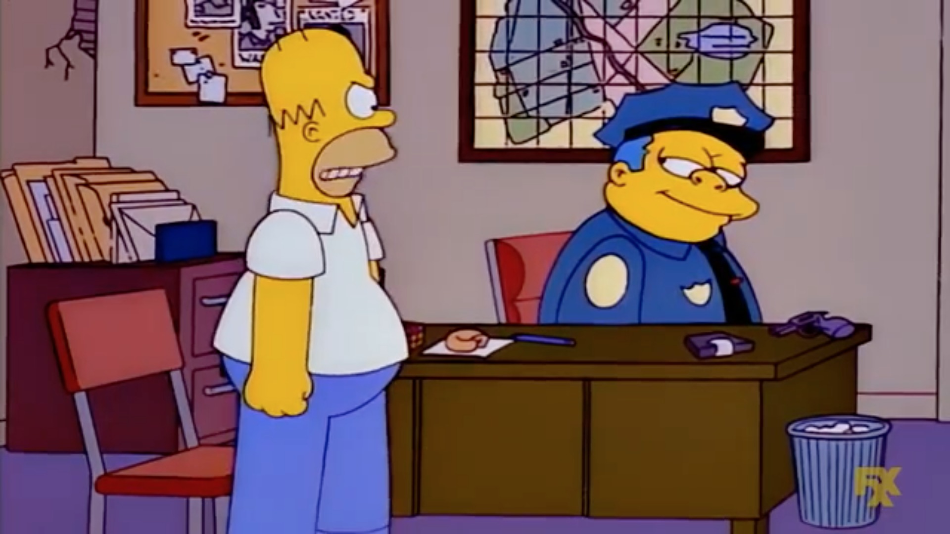 Los Simpson secreto mapa
