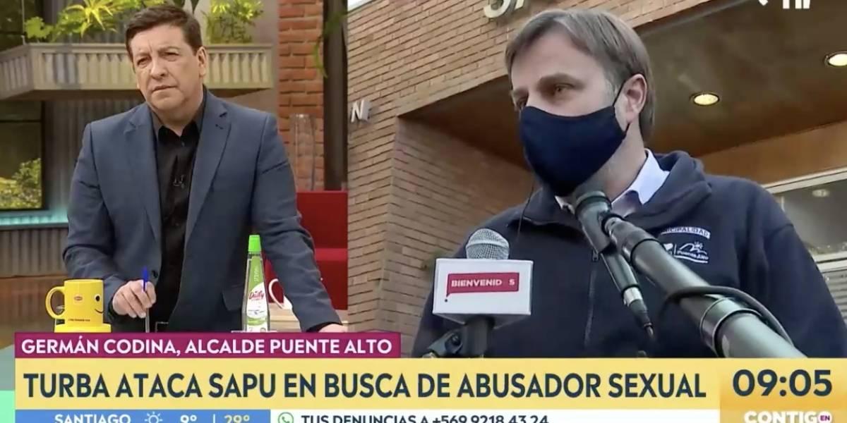 Matinales se pelean en vivo a alcalde Germán Codina por manifestaciones en Puente Alto