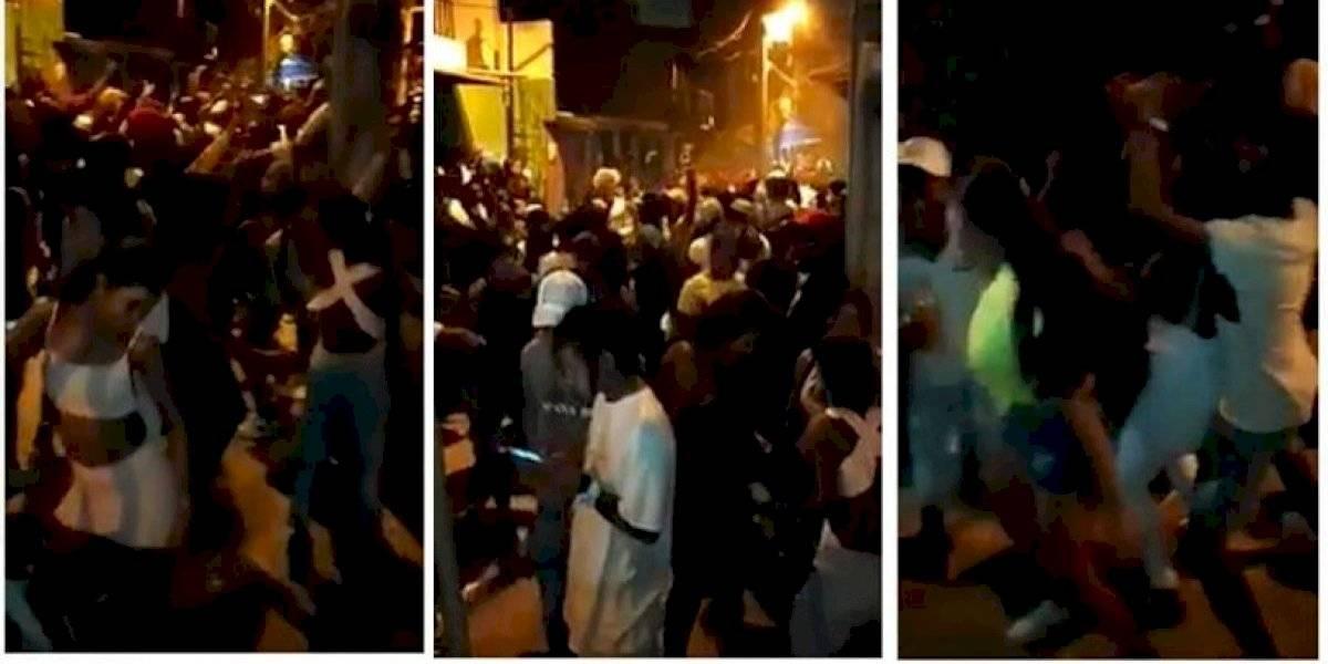 (VIDEO) Nueva multitudinaria fiesta callejera se registró en plena vía pública en Medellín