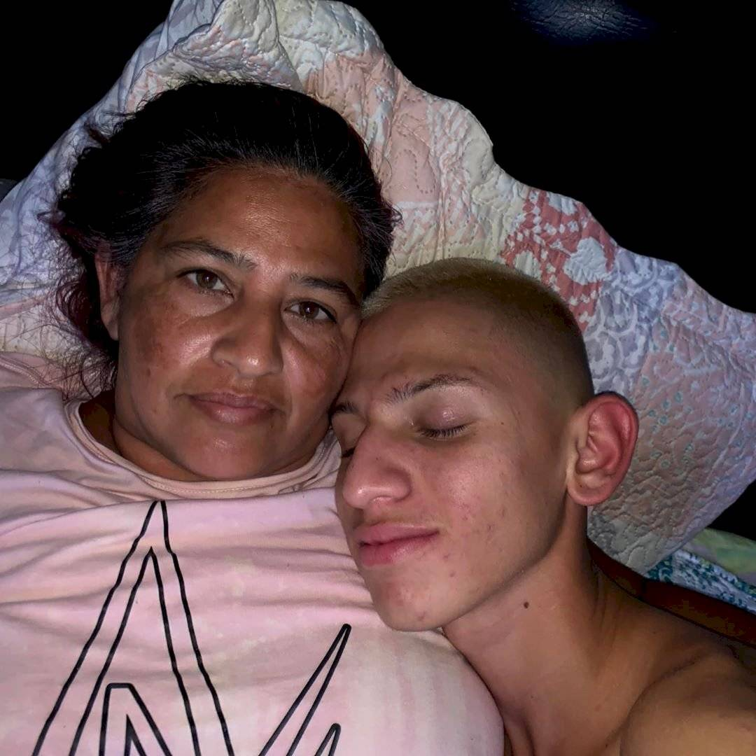 La Liendra y su madre