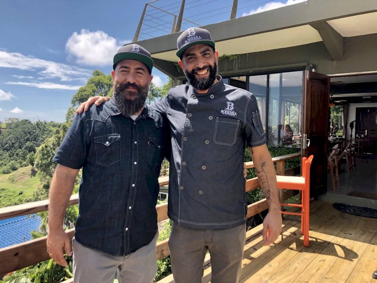 Federico Molla y el chef Mariano Sena, a la derecha