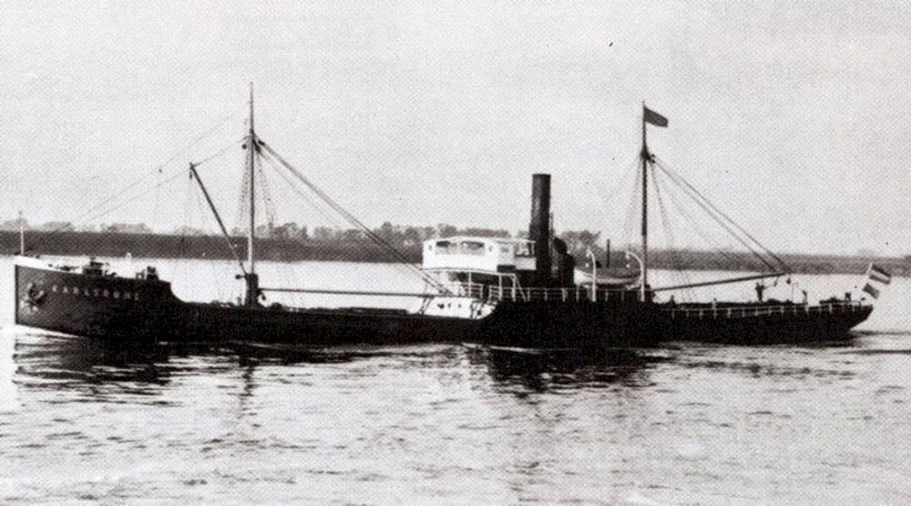 El barco nazi Karlsruhe, hundido en el Mar Báltico por los soviéticos.