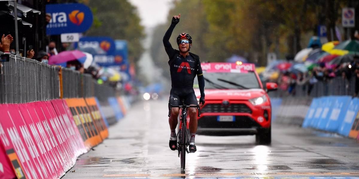 Las primeras declaraciones de Jhonatan Narváez tras ganar la etapa 12 del Giro de Italia