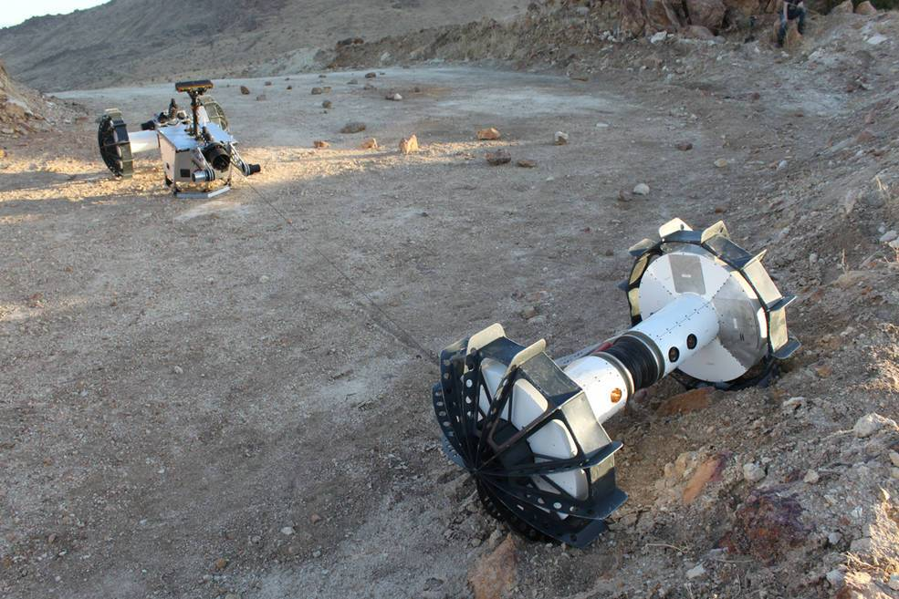 El rover DuAxel, creado por la NASA. ¿Lo veremos alguna vez en Marte?