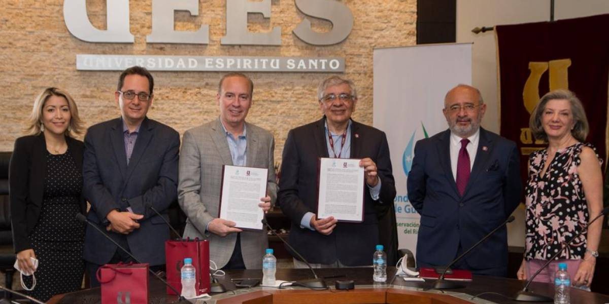 Fondo de Agua de Guayaquil y la UESS firmaron convenio de cooperación técnica
