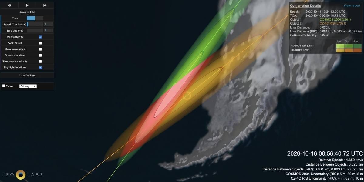 Ciencia.-Cruce sin colisión en órbita de un viejo satélite y un trozo de cohete