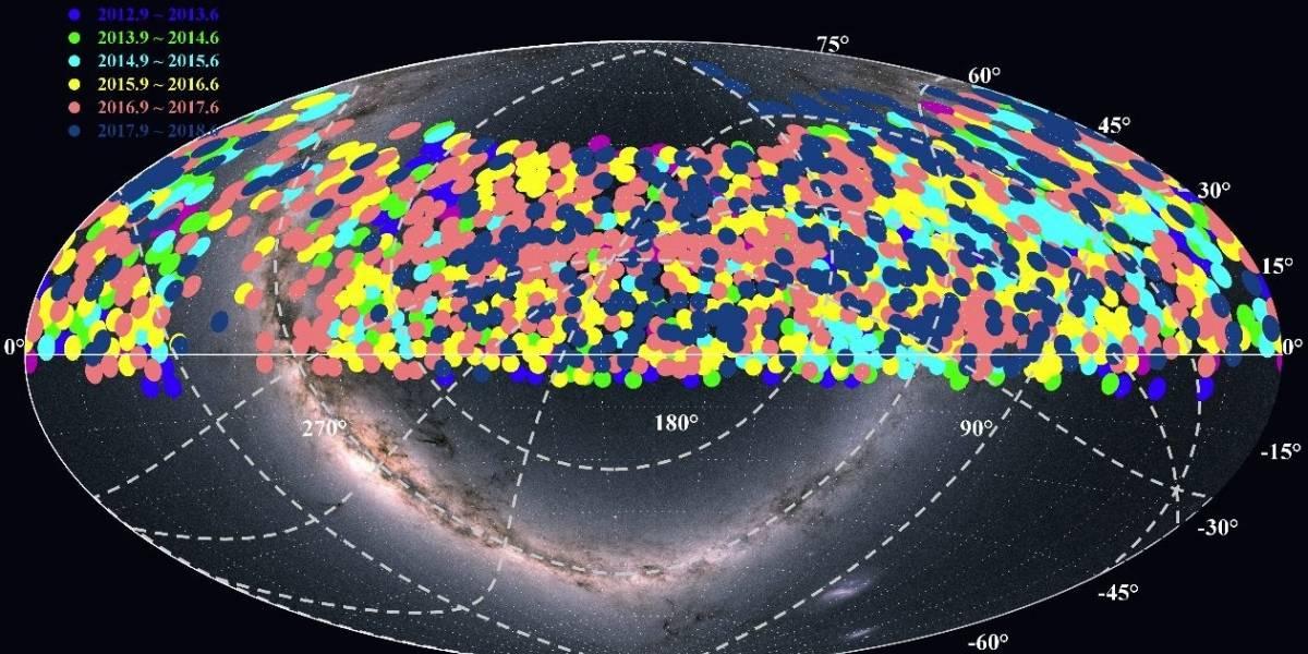 Ciencia.-El telescopio chino LAMOST publica millones de espectros estelares