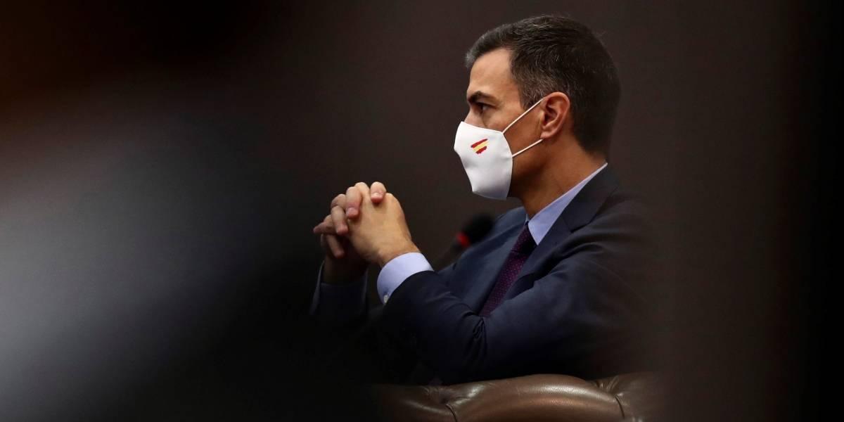 España.- Sánchez, en el programa de un foro económico a la hora de la moción de censura de Vox en el Congreso