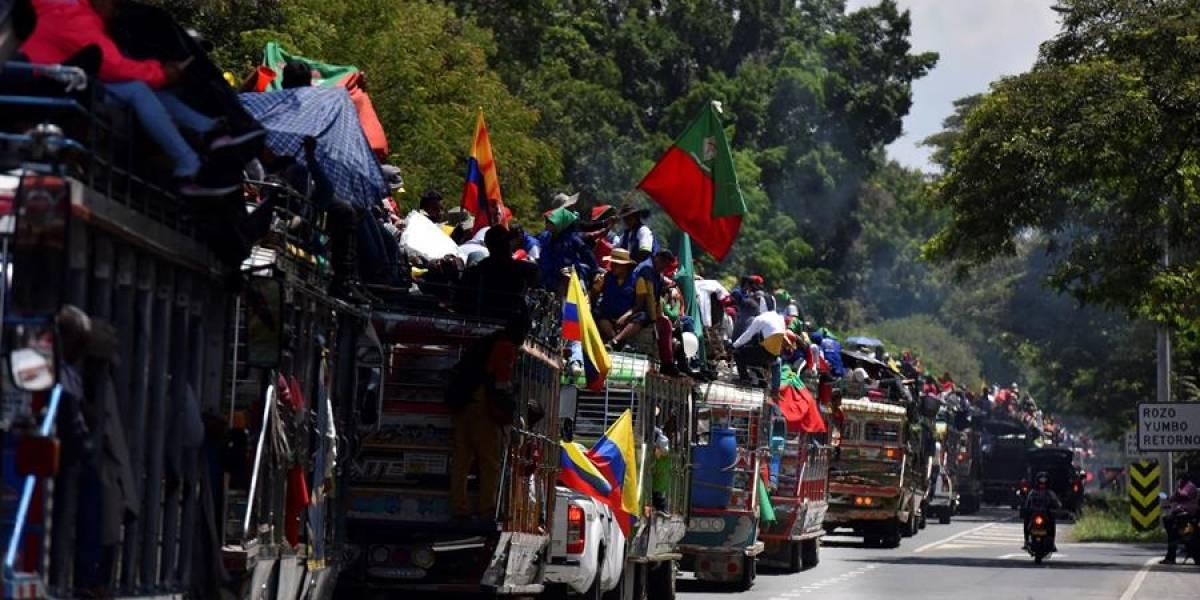 Así avanza la minga indígena por las carreteras del país
