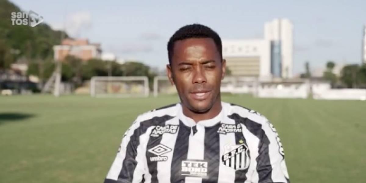 Santos suspende el fichaje de Robinho por su condena en Italia