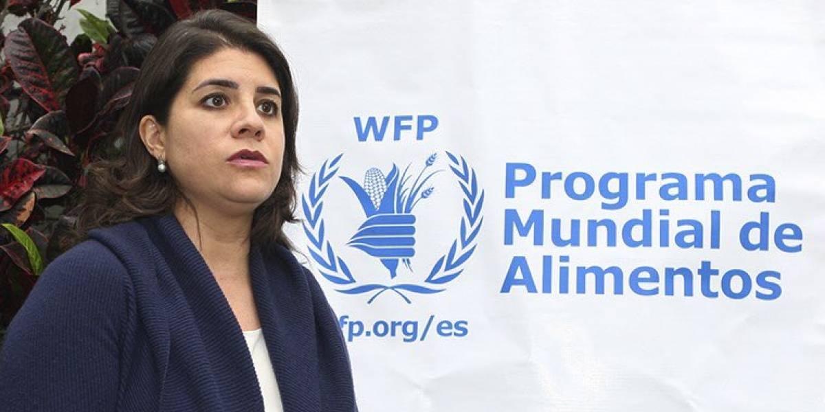 Carmen Burbano, la ecuatoriana forma parte del Programa Mundial de Alimentos, ganador del Nobel de la Paz 2020