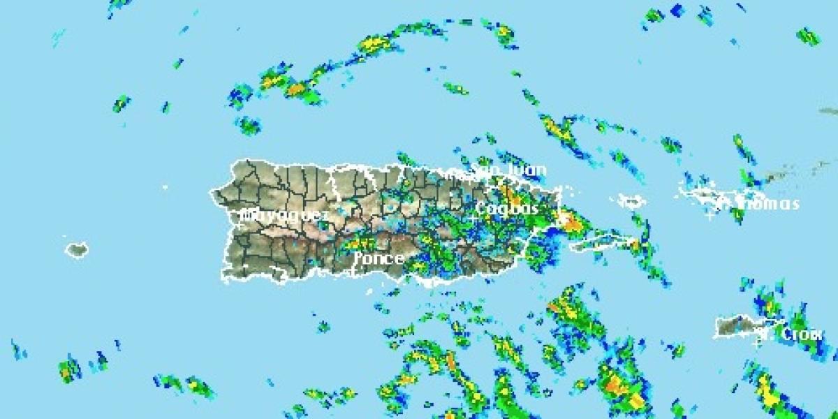 Esperan aguaceros de aislados a dispersos sobre Puerto Rico