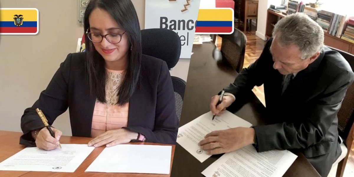 Banco Central del Ecuador y el Banco de la República de Colombia firman acuerdo de cooperación