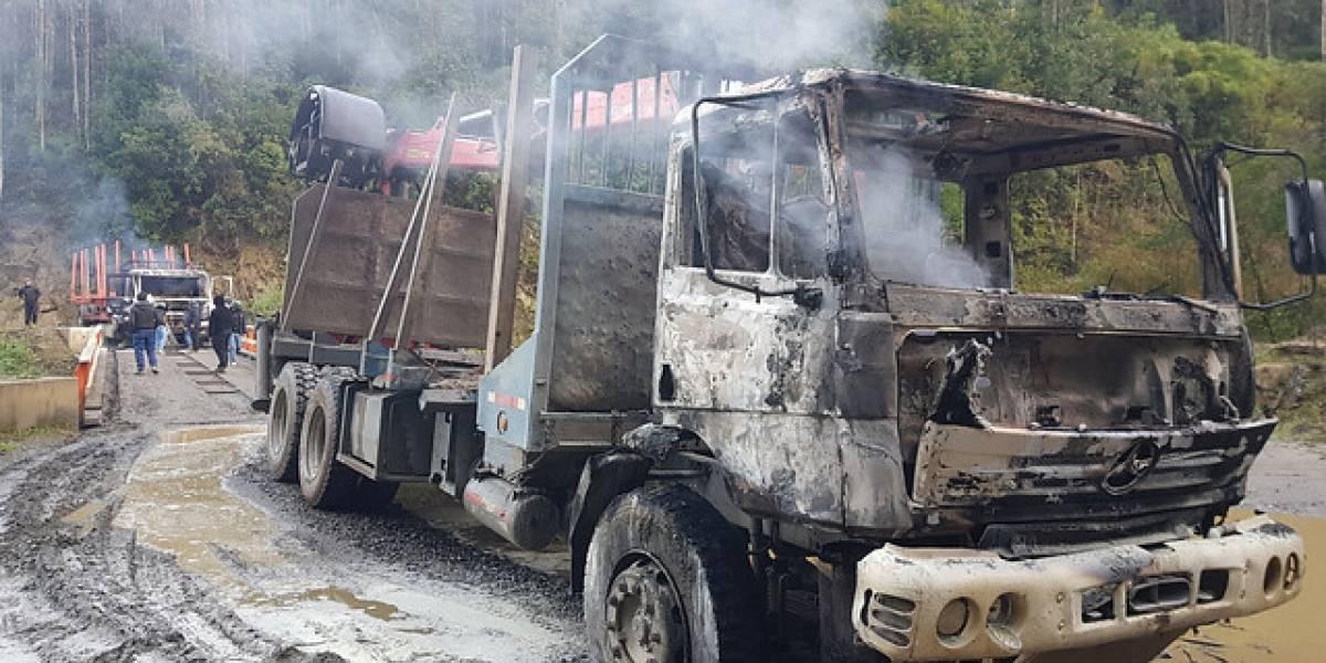 Quema de camiones: Corte resolverá sobre libertad de imputado en caso de Mulchén