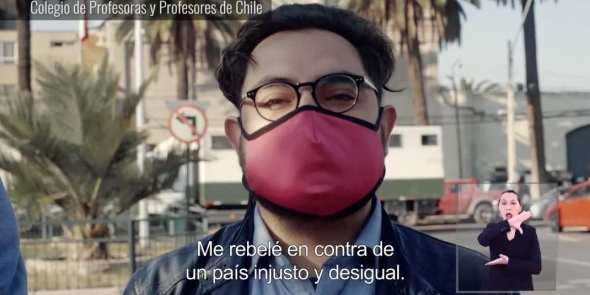 """Profesor detenido por patear torniquete apareció en la franja: """"Me rebelé contra un país injusto y desigual"""""""