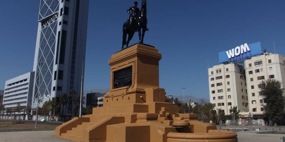 Monumento del general Baquedano amaneció reluciente: volvió a sus colores normales tras ser pintado de rojo en las manifestaciones