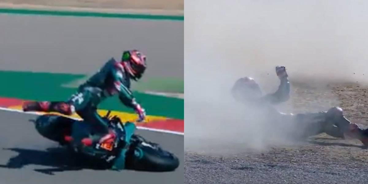 VIDEO: Piloto sufre espeluznante accidente en el MotoGP de Aragón