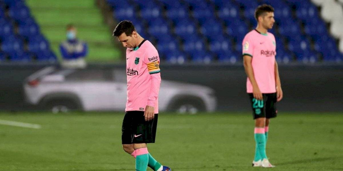 Barcelona es sorprendido y pierde el invicto frente al Getafe