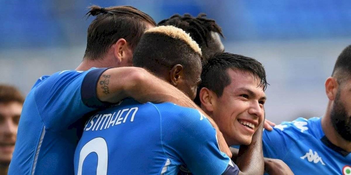 Hirving Lozano se luce en victoria del Napoli frente al Atalanta