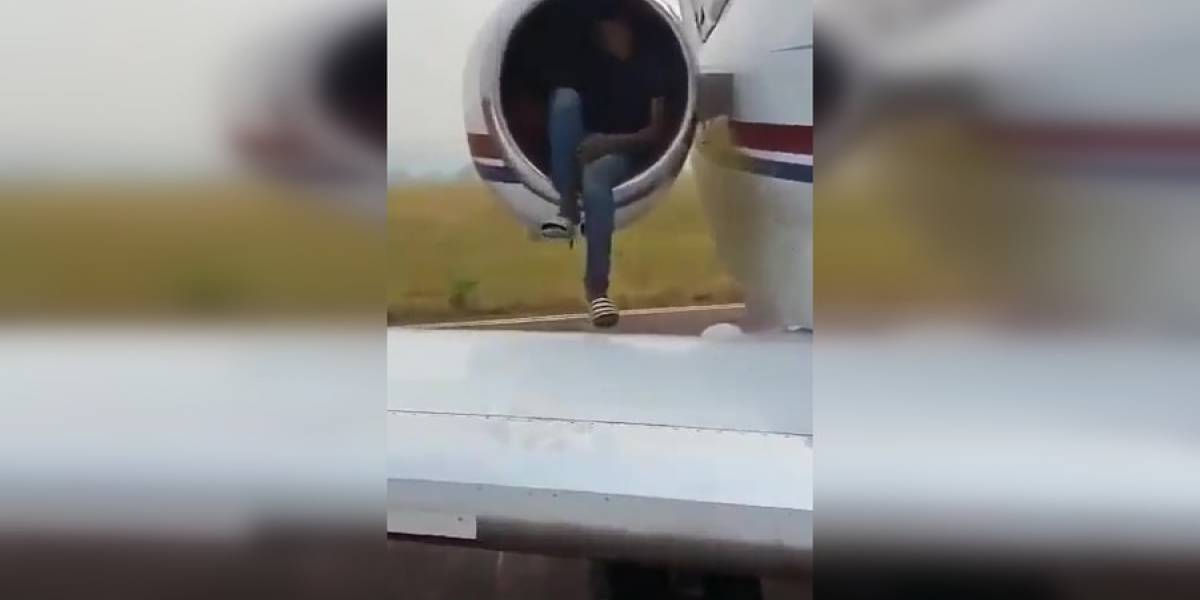 Vídeo: Adolescente é flagrado se escondendo em turbina de avião para tentar entrar na Europa