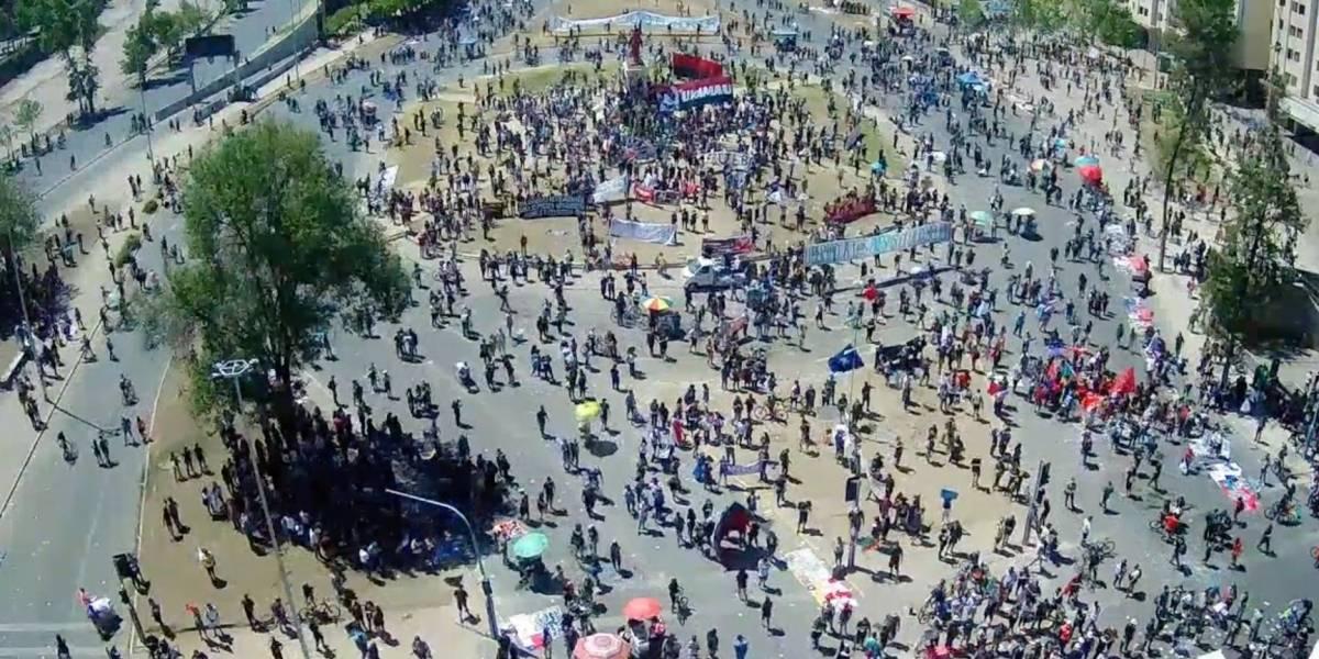 Manifestaciones por el 18-O: sigue la transmisión en vivo desde Plaza Baquedano