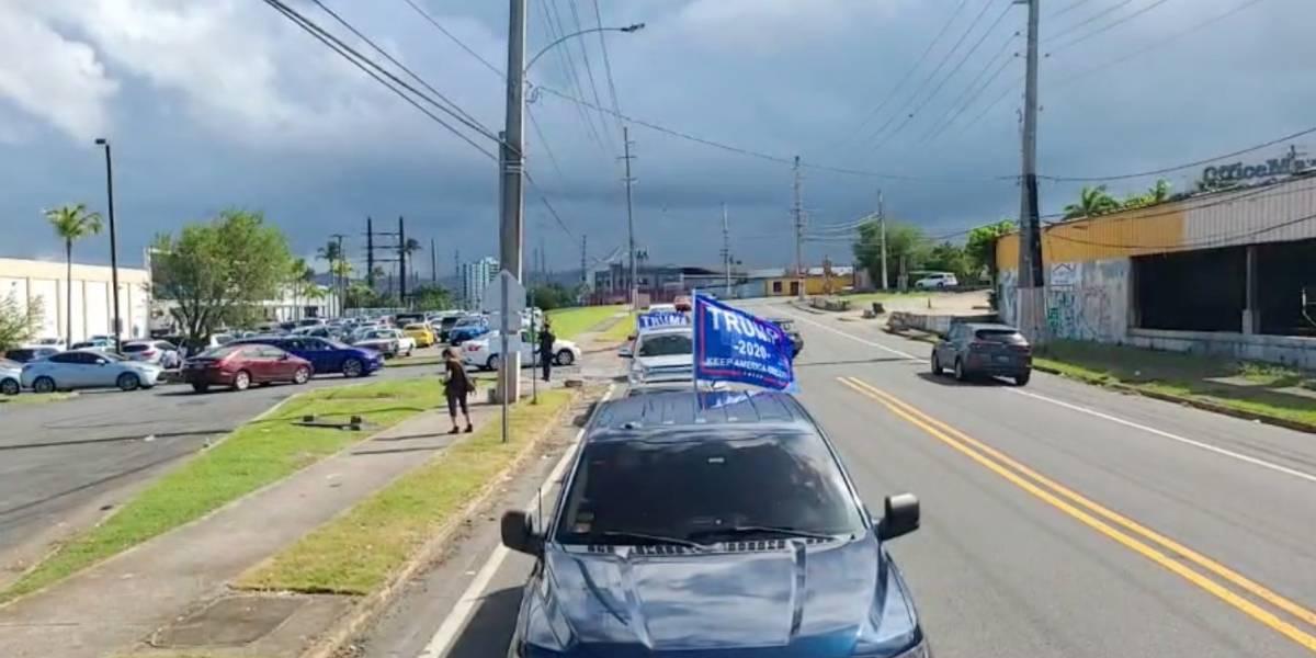 Simpatizantes de Trump en Puerto Rico se manifiestan para mostrar su apoyo al presidente