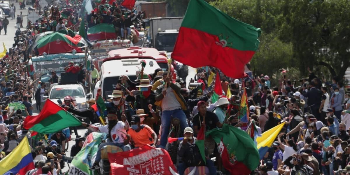 La minga indígena llega este domingo a Bogotá