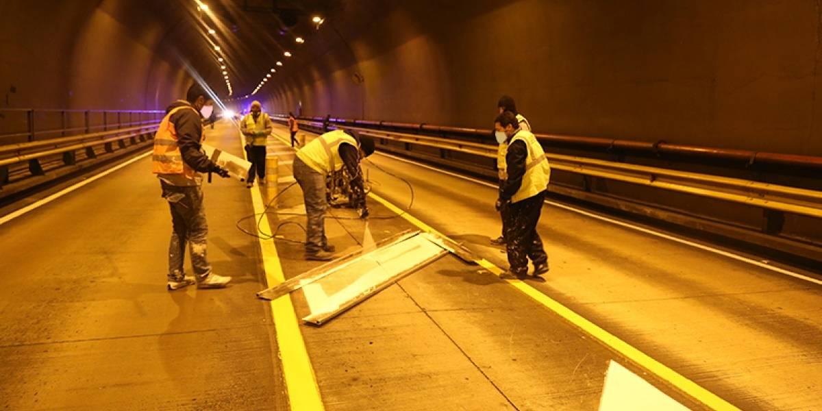 Túnel Guayasamín estará cerrado desde las 21:00 de este 19 de octubre por trabajos de señalización