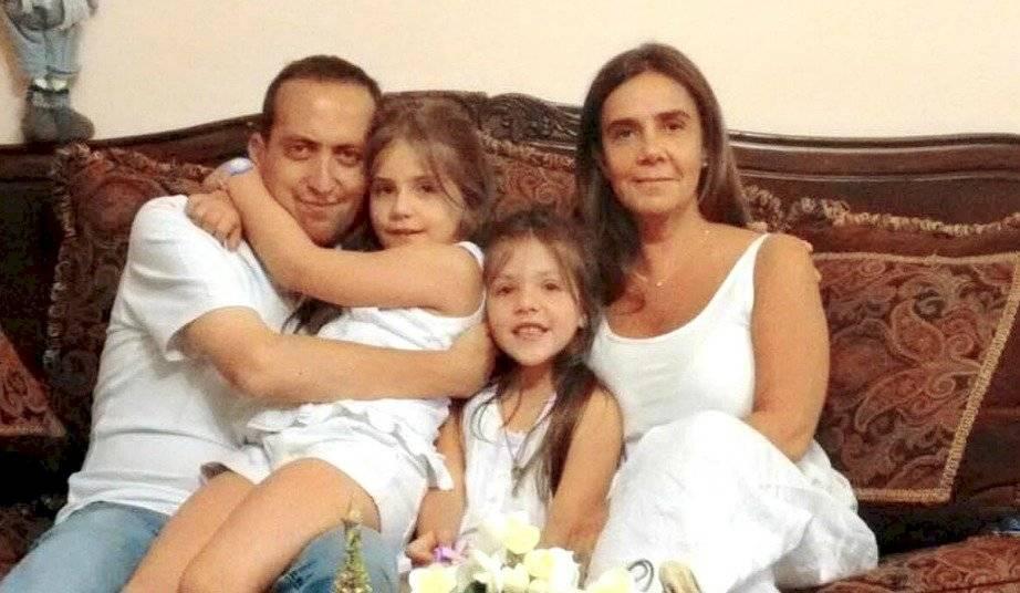 Rodrigo Panes y su familia