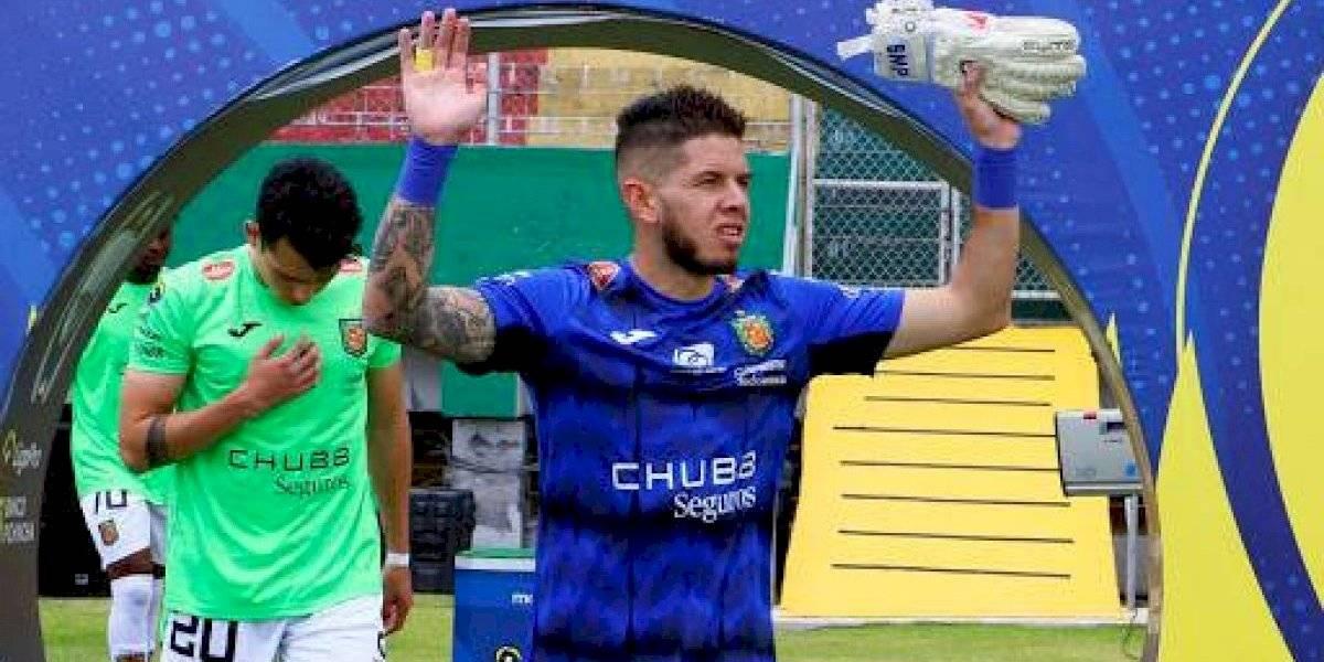 Heras, golero del Deportivo Cuenca, hizo uno de los 'bloopers' más grandes de la Liga Pro
