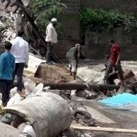 Estragos y destrucción en India debido a las fuertes inundaciones
