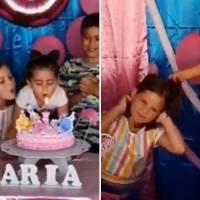 """""""Fue una pequeña pelea"""": Habló la madre de las hermanas del video viral de cumpleaños"""