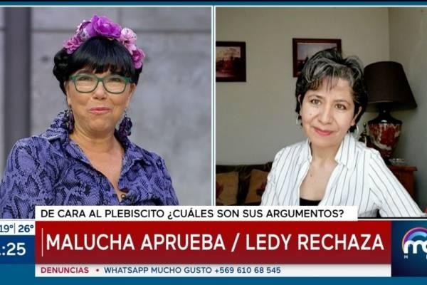 """Malucha Pinto vs. Soa Ledy: así discutieron por los """"derechos consagrados"""" en la Constitución"""