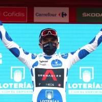 La broma de Richard Carapaz y Andrey Amador previo al inicio de la etapa 4 de la Vuelta a España