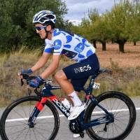 Richard Carapaz llegó tercero en la etapa 3 de la Vuelta a España