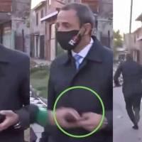 Viral: Así fue como periodista argentino logró recuperar su celular tras sufrir robo en plena transmisión en vivo