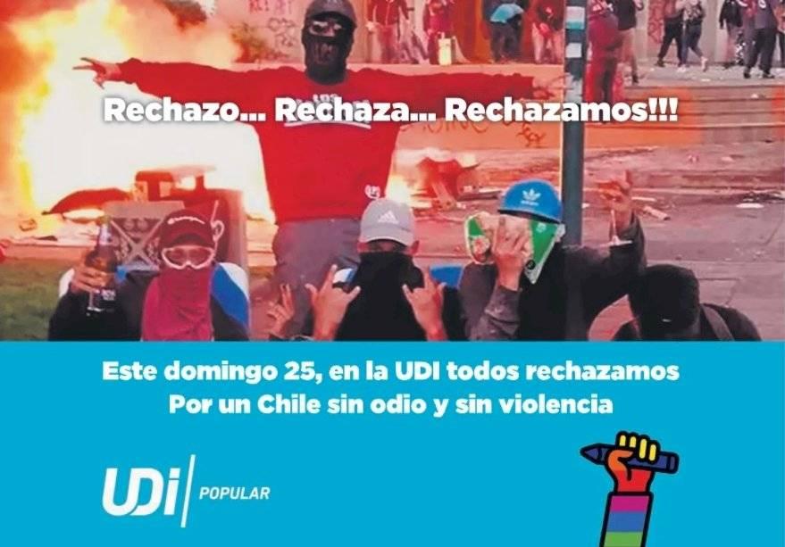 El inserto pagado por la UDI, criticado por Camila Vallejo y defendido por Jacqueline van Rysselberghe / Foto: Twitter