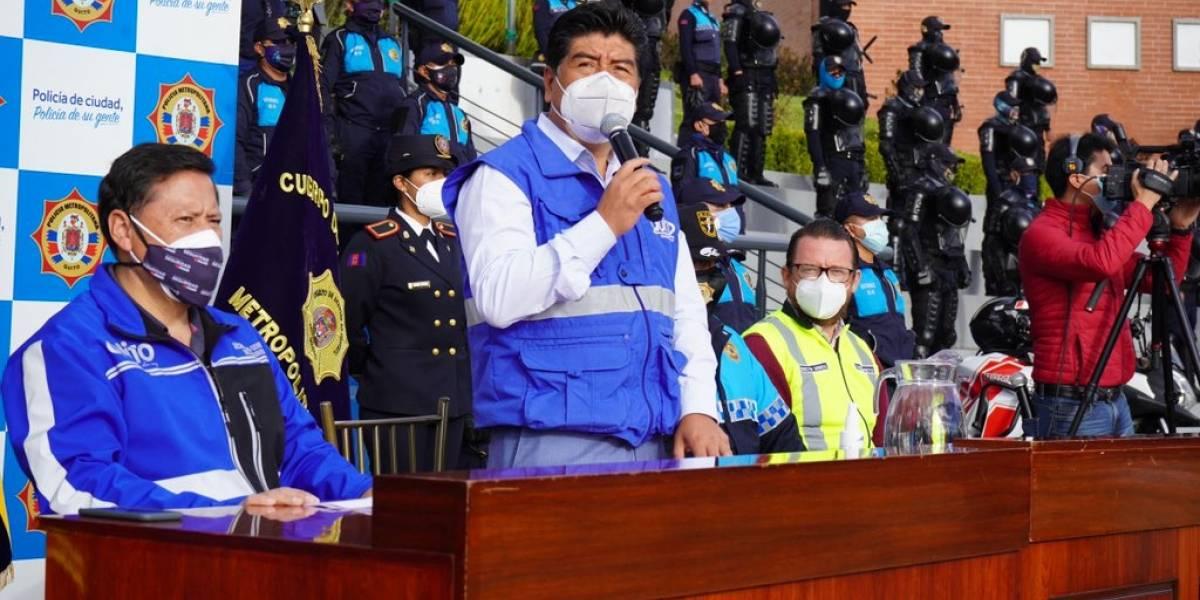 Alcalde Yunda activa el COE de Quito ante manifestaciones de este 22 de octubre